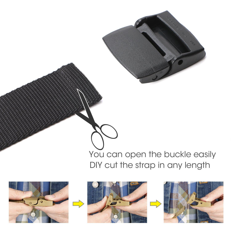 Cashsafe Anti-Theft Wallet Unisex Nickel free Nylon Belt by JASGOOD Travel Security Money Belt with Hidden Money Pocket