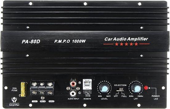 C Funn 12 V 1000 Watt Mono Auto Audio Endstufe Leistungsstarke Bass Subwoofer Amp Auto