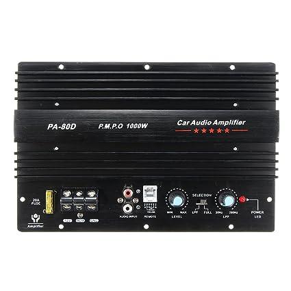 GOZAR 12V 1000W Mono Car Audio Amplificador De Potencia Potente Subwoofers Amp