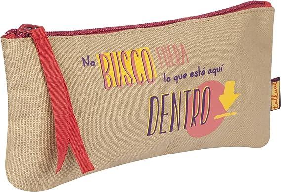 Finocam Talkual Estuche, beige, plano, español: Amazon.es: Ropa y accesorios
