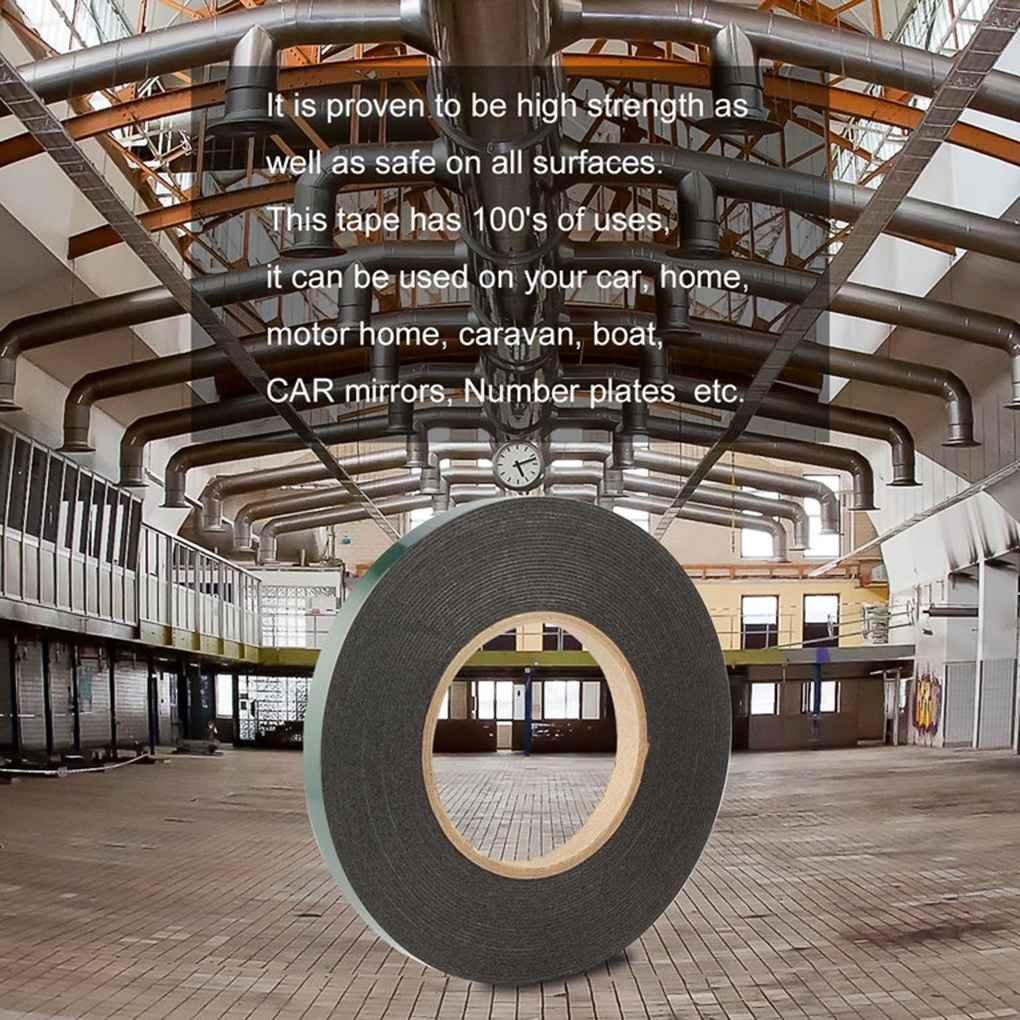 beIilan 10m Cinta de Espuma con Cinta de Doble Cara Adhesiva Impermeable de Montaje del Rodillo por Vestiduras de Coches de Placas de matr/ícula