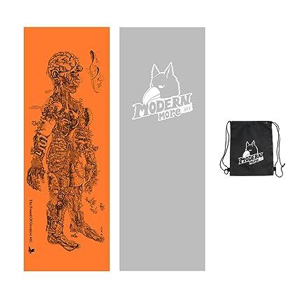 Amazon.com: Moderno Más toalla de Yoga – del artista mano ...