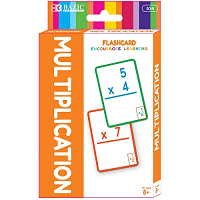 BAZIC Multiplication Flash Cards, Number Elementary Math Card Game Education Training Learning Practice Smart Great for Kids Activities at Home School Classroom (36/Pack): Office Products