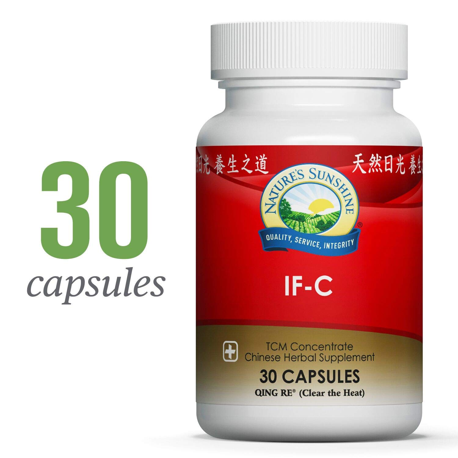 Nature s Sunshine IF-C, TCM Concentrate, 30 Capsules Blend of Chinese Herbs That Nourish The Structural and Immune Systems by Stimulating Blood Flow and Helping to Eliminate Toxins