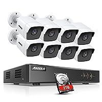 Deals on ANNKE 8CH 8 Camera Security System H.265+ DVR Recorder w/2TB HDD