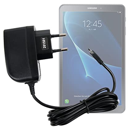 DURAGADGET Cargador (2 Amperios) para Tablet Samsung Galaxy Tab A 2016 SM-T580/T585 - con Conexión Micro USB Y Enchufe Europeo De Pared - Certificado ...
