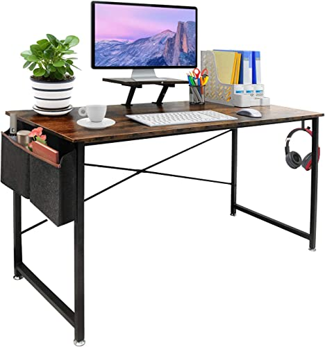 Seeutek Study Computer Desk Modern Writing Table 55 Inch Simple Style Laptop Desk