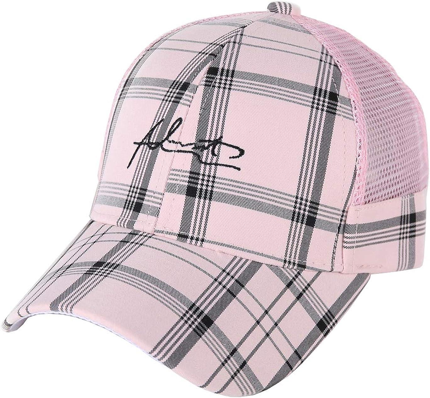 ACVIP Little Girls Plaid Net Fabric Hip-hop Casual Baseball Cap