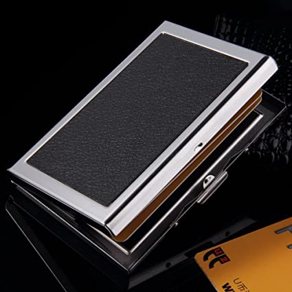 Amazon card holder waterproof aluminum business id credit card card holder waterproof aluminum business id credit card mini wallet holder pocket case box silver business colourmoves