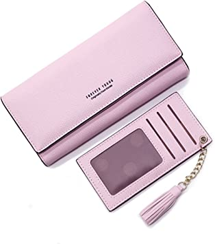 Women Genuine Leather Wallet Slim Clutch Card Holder Lady Soft Front Pouch Purse