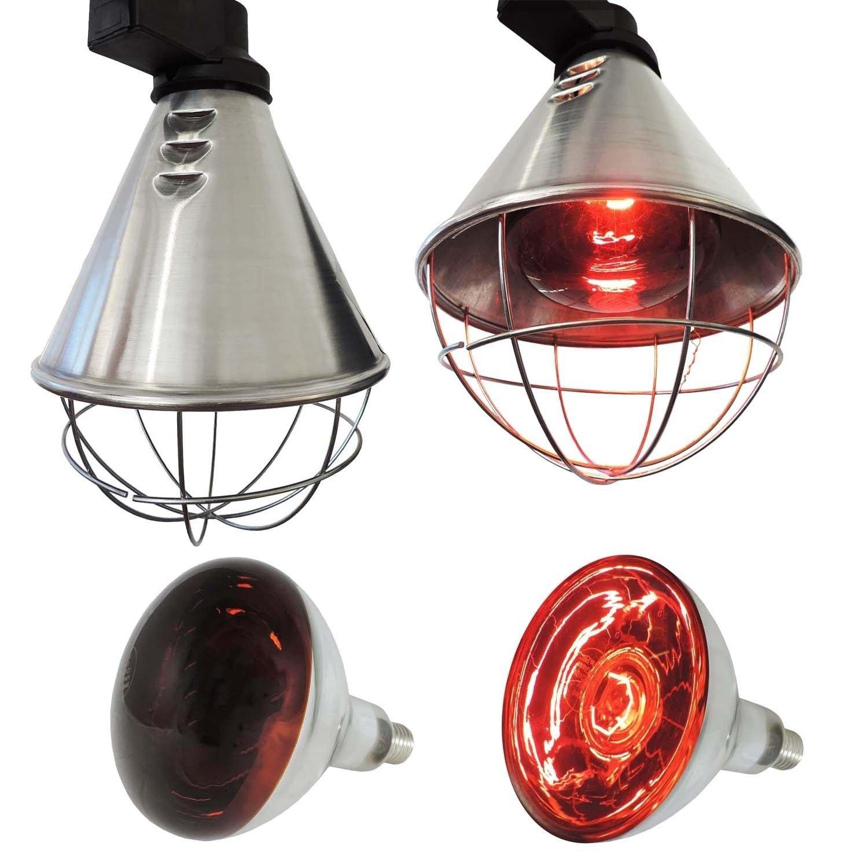 Koll Living Infrarot-Wärmestrahlgerät 150W , Kückenlampe, Schweinelampe, Made in Germany , 12 Lüftungsschlitze NA Eider 0401-035