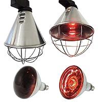 Koll Living Infrarot-Wärmestrahlgerät 150W , Kückenlampe, Schweinelampe, Made in Germany , 12 Lüftungsschlitze