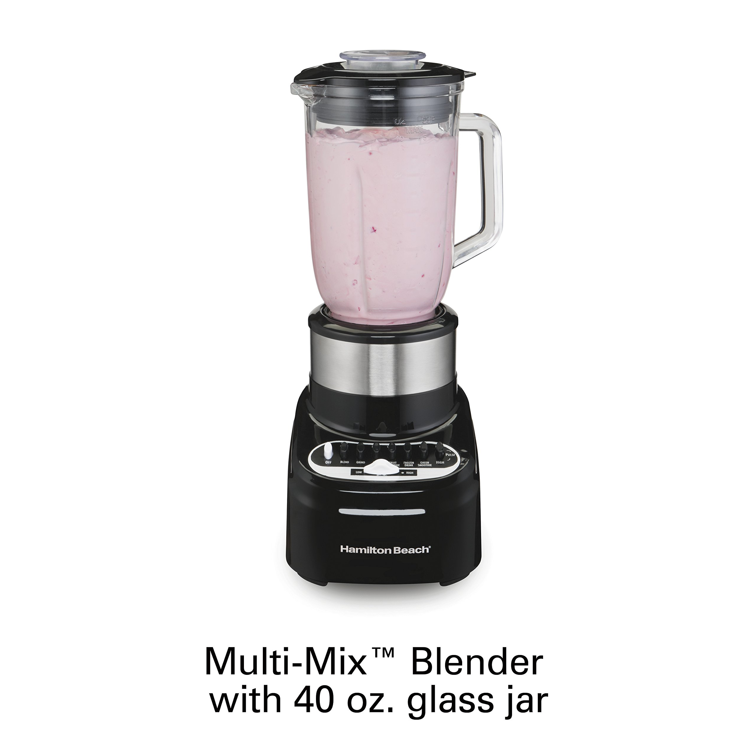 Hamilton Beach 54210 Blender with 40 Oz Glass Jar for Shakes and Smoothies, 14 Speeds, 800 Watts, Stainless Steel by Hamilton Beach (Image #6)