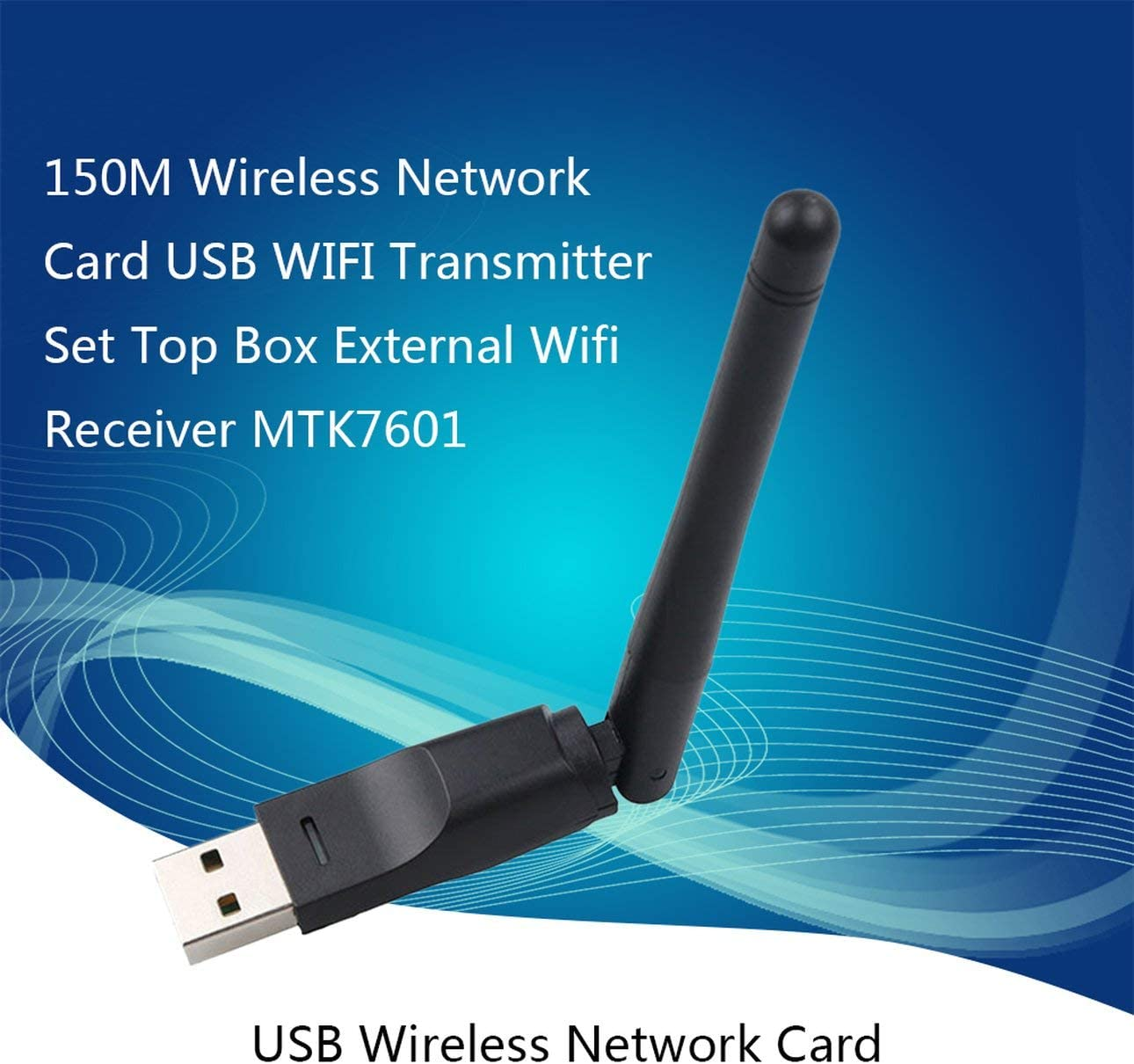 Liobaba USB WiFi Antenna Wireless Network Card USB 2.0 150mbps 802.11b//g//n