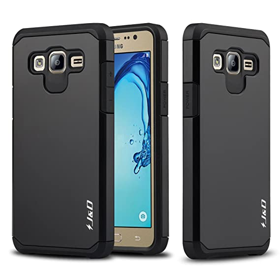 hot sale online 22420 cf830 J&D Case Compatible for Galaxy On5 Case, Heavy Duty [Dual Layer] Hybrid  Shock Proof Protective Rugged Bumper Case for Samsung Galaxy On5 Case -  Black