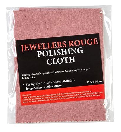 5389fec4120 JEWELLERS ROUGE IMPREGNATED POLISHING CLOTH - Large 31.5 x 44cm   Amazon.co.uk  Kitchen   Home