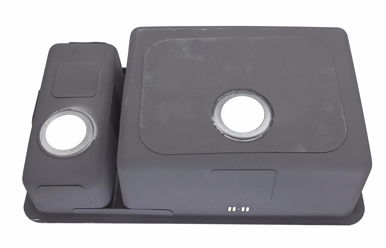 Fregaderos de cocina bajo cubierta 1.5 bol acero cepillado (D02R ...