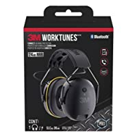3M Worktunes Connect Bluetooth Hearing Protection with Call Integration, Yellow and Black - 90543-4DC