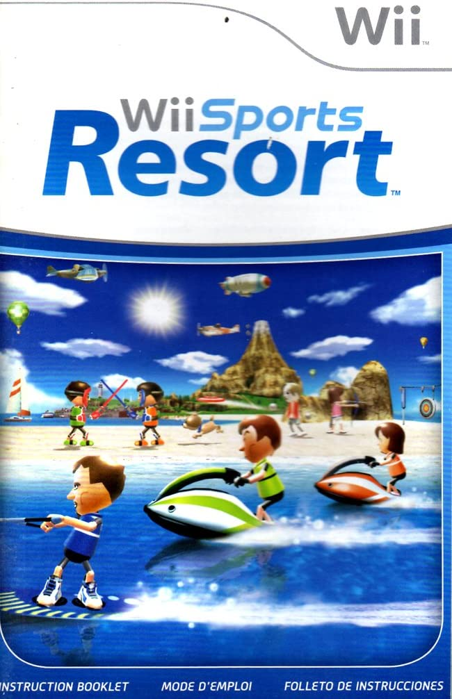 amazon com wii sports resort wii instruction booklet nintendo wii rh amazon com Ridiculous Wii Instruction Manual wii sports user manual