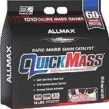 ALLMAX QUICKMASS LOADED, Rapid Mass Gain Catalyst Powder, Zero Trans Fat, Strawberry Banana Flavor, Dietary Supplement, 12 Pound