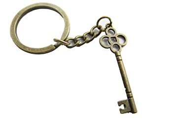 Antique skeleton key keychain vintage key keyring ooak skeleton antique skeleton key keychain vintage key keyring ooak skeleton key pendant aloadofball Image collections
