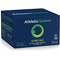 Athletic Greens Ultimate Daily, Whole Food Sourced All in One Greens Supplement, Superfood Powder, Gluten Free, Vegan…
