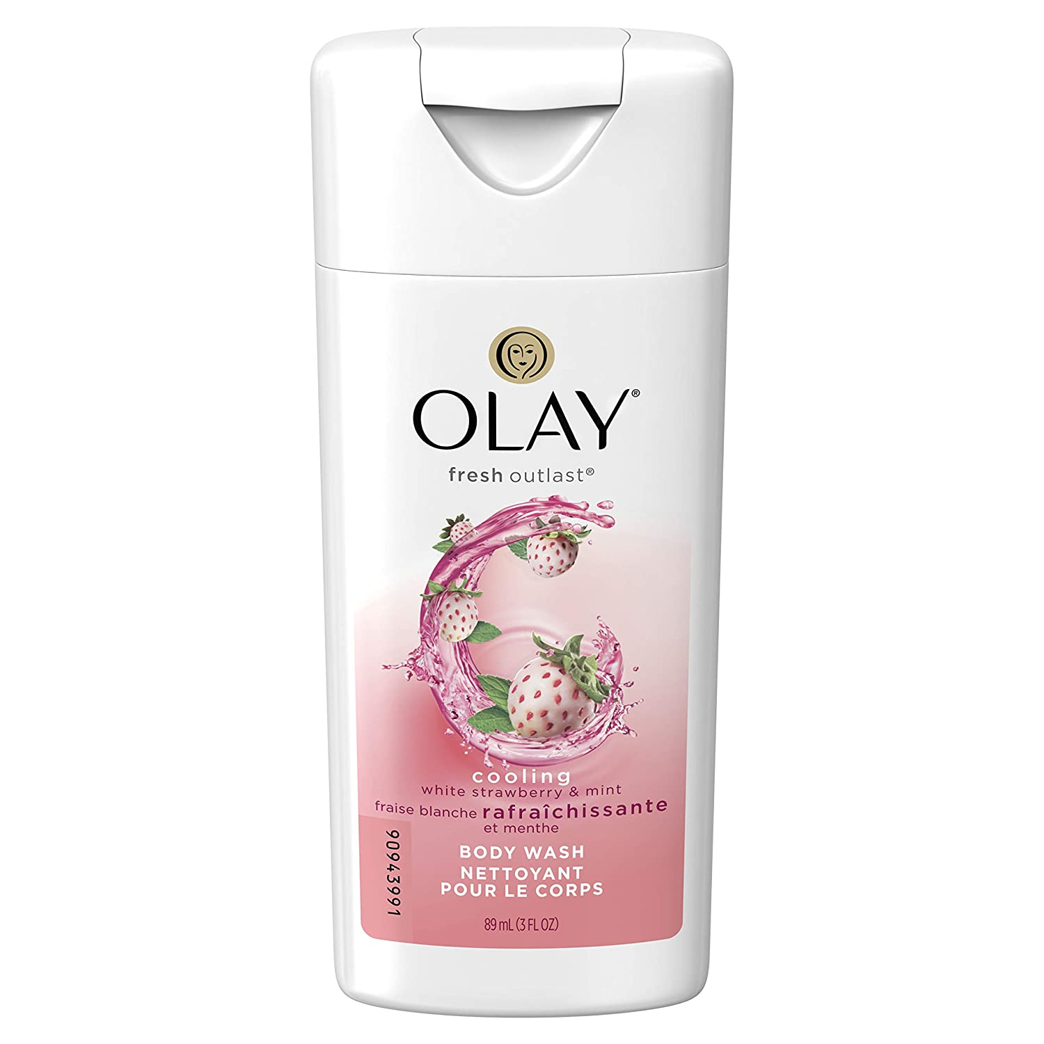 Olay Fresh Outlast Cooling White Strawberry & Mint Body Wash, 3.0 Ounce (pack Of 24)
