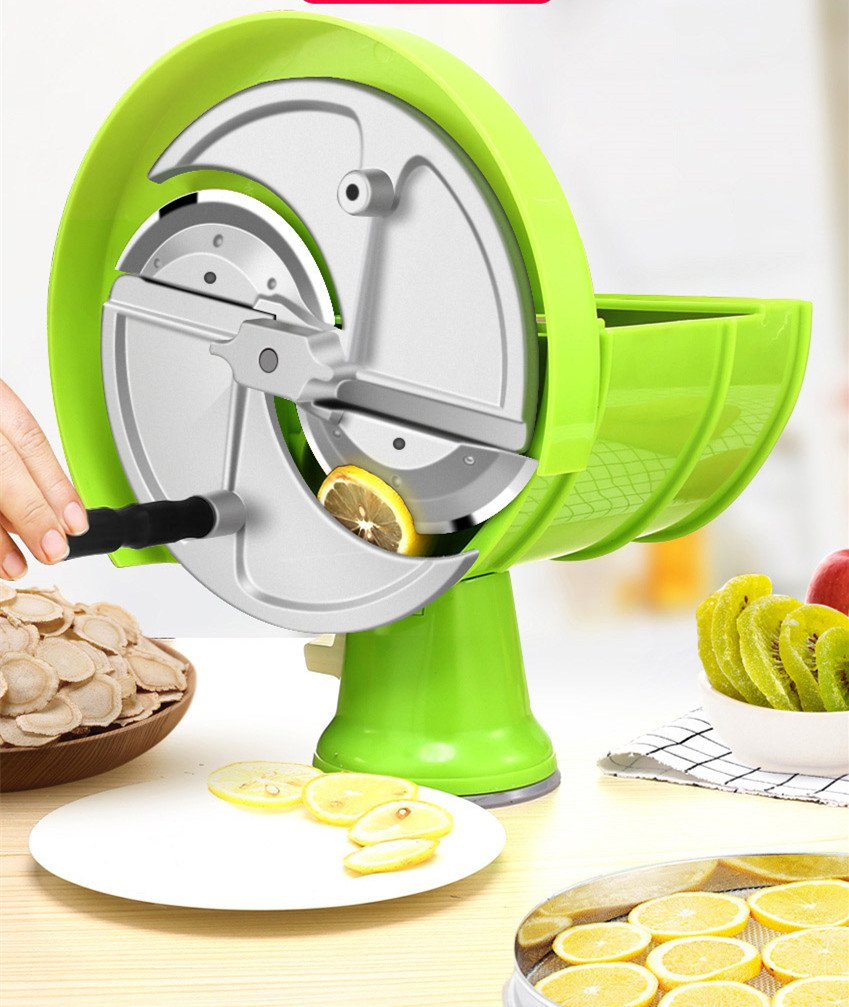 ELEOPTION Vegetable Slicer Cutter Fruit Spiralizer Potato Slicer Handheld For Potato Slicer Potato Tomato Onion Lemon Kitchen Cutting Helper Tool by Eleoption