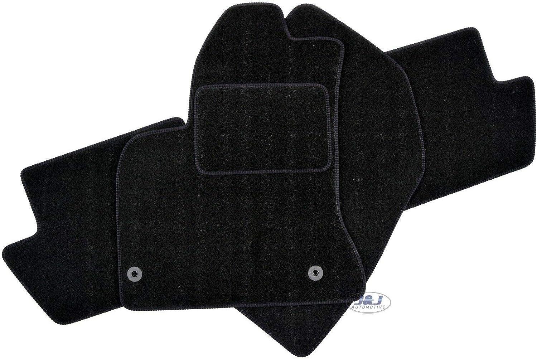 J/&J AUTOMOTIVE Tapis DE Sol Noir Velours Compatible avec Citroen C4 Picasso 2006-2013 3 pcs