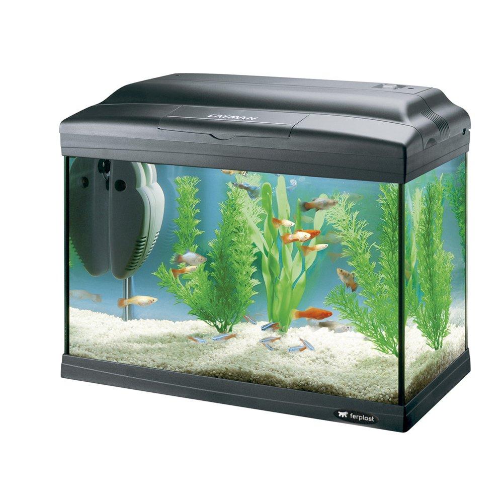 Ferplast 65040817 Aquarium CAYMAN 40 Plus, Maße: 41,5 x 21,5 x 34 cm, 21 Liter, schwarz