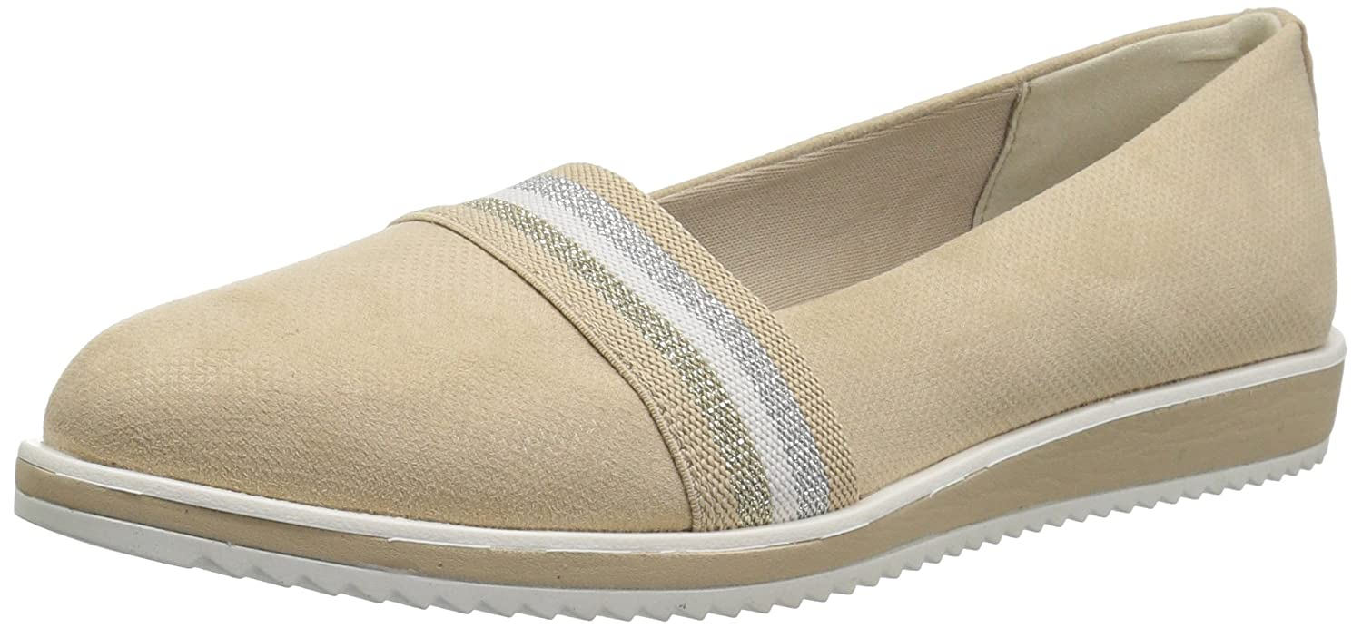 Anne Klein Women's Mallorie Slip Ballet Flat B07BRZRFV7 7.5 B(M) US|Light Natural