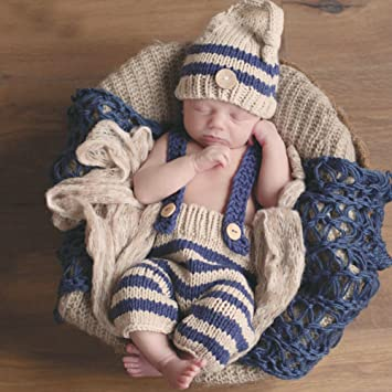 8a7ac67c54dca Baby Girls Boys Handmade Newborn Baby Girl Boy Photo Photography Props  Crochet Knitted Prop Clothes Outfits Blankets (Style 2)