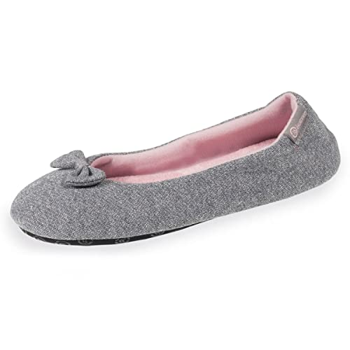 Zapatillas Bailarinas Plateadas para Mujer Isotoner 39/40: Amazon.es: Zapatos y complementos