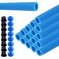 LZQ 16x stangbescherming voor trampoline netpalen schuimstofrol blauwe buizen bekleding 92 cm voor 8 stangen…