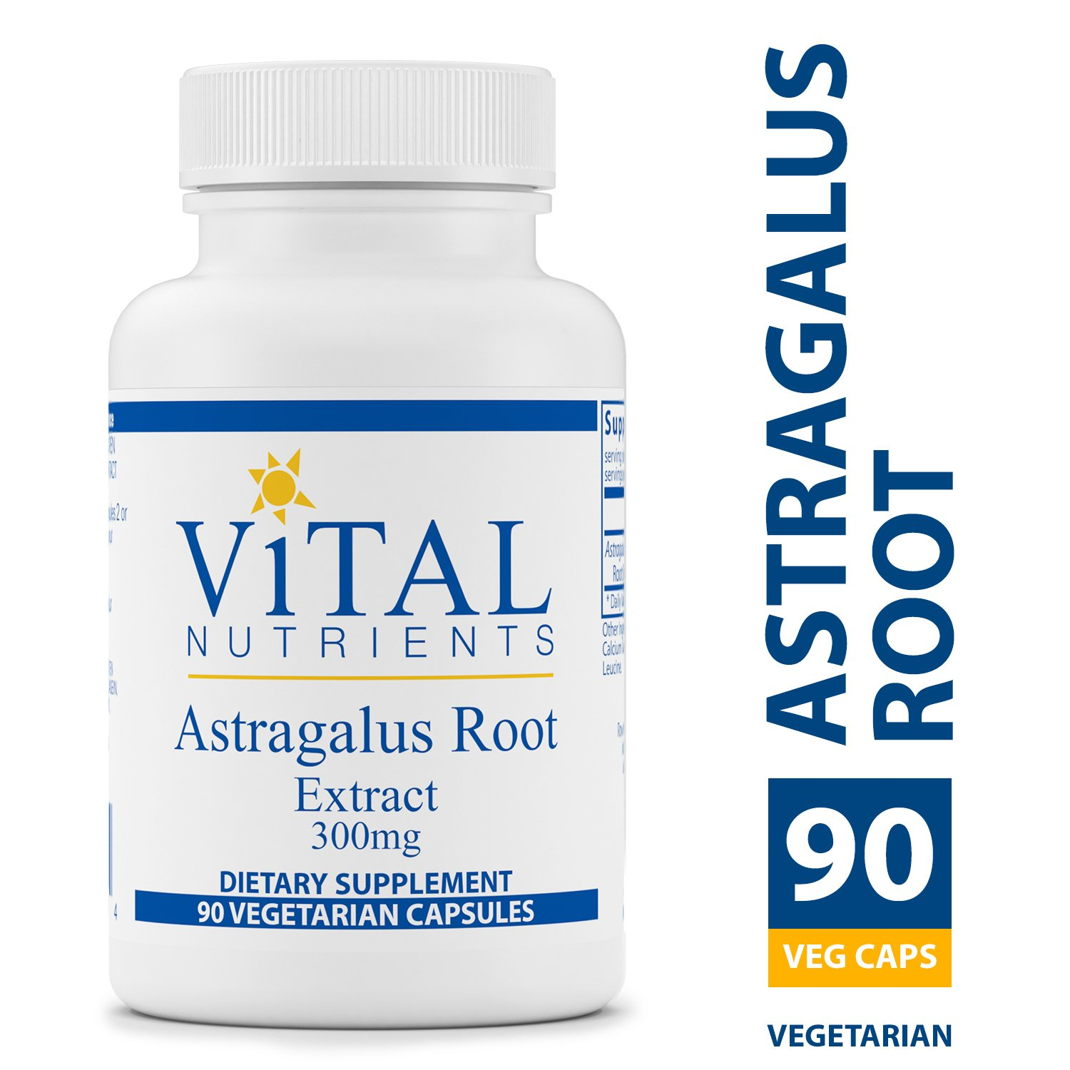 Vital Nutrients - Astragalus Root Extract 300 mg - Vegan Formula - Herbal Support for The Immune System - 90 Vegetarian Capsules per Bottle