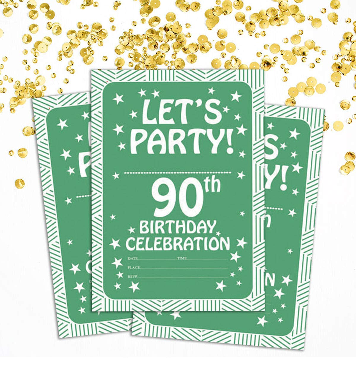 Amazon Com Darling Souvenir Green Birthday Invitation Card