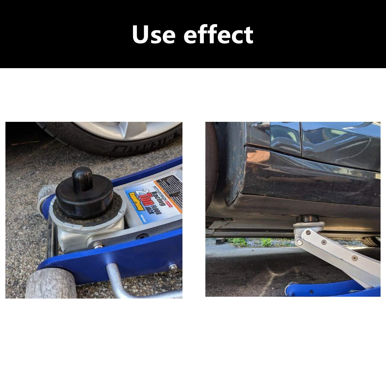 DEDC 4 Pack Car Jack Lift Pad Adapter Tool Rubber Jack Pads Frame Protector for All Tesla Model 3
