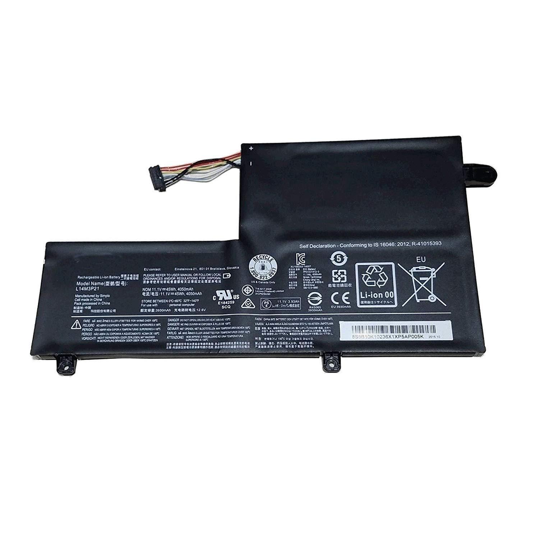 Bateria 45Wh L14M3P21 para Lenovo Flex3-1470 Flex3-1480 Flex3-1580 Edge 2-1580