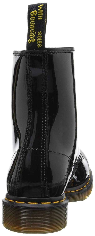 Damen Dr Martens 1460 W 8 8 8 Eyelet Patent Lamper Armee Schnüren Stiefel - Schwarz - 36 27a216