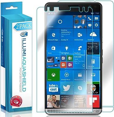 HP Elite X3 Protector de pantalla + Back COVER [2-Pack],, Aquashield – Cobertura Completa Delantera y Trasera Protector de pantalla para HP Elite X3 HD clara anti-Bubble película: Amazon.es: Electrónica
