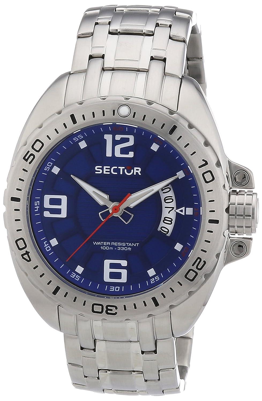Sector R3253573004 - Reloj analógico de Cuarzo para Hombre con Correa de Acero Inoxidable, Color Plateado