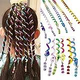 Sasairy Frauen Mädchen 12 Stück Bunte Haar Torsion Haarschmuck mit Strass Haar Accessoires Mehrfarben