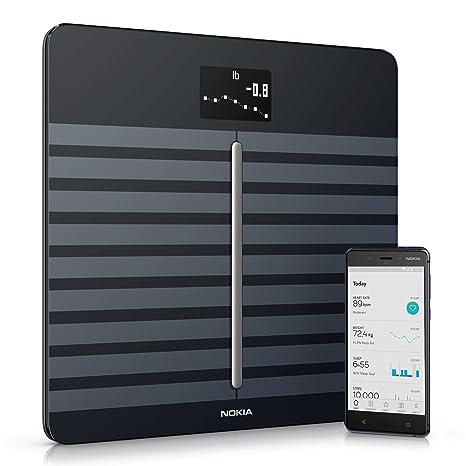 Nokia Body Cardio - Báscula Wi-Fi con composición corporal y frecuencia cardiaca, color