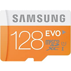 Samsung Evo 128GB Micro SDXC Card with Adapter