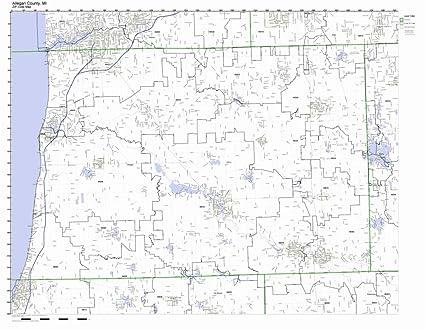 Amazon.com: Allegan County, Michigan MI ZIP Code Map Not ...