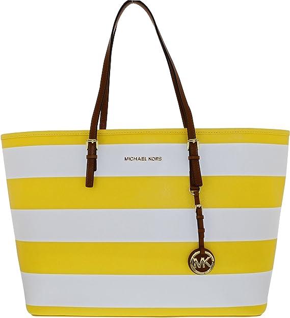 Michael Kors - Bolso al hombro para mujer Amarillo Citrus/White: Michael Kors: Amazon.es: Ropa y accesorios