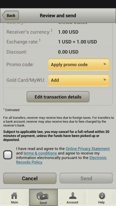 Western Union Historical Transaction Request