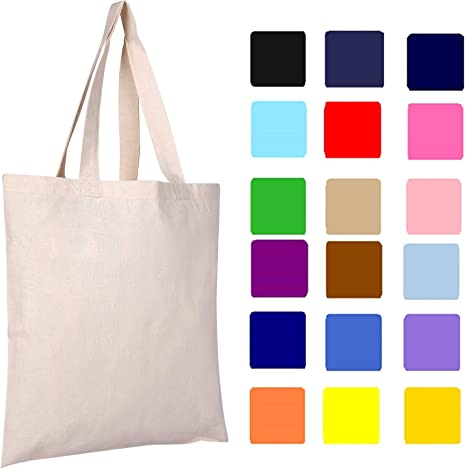 Blooming Season Durable and versatile HAND-DECORATED reusable canvas tote bag