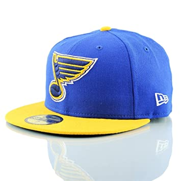 9cc178ac0d0 New Era St. Louis Blues 2-Tone 59FIFTY Fitted NHL Hat 7 1 8  Amazon ...