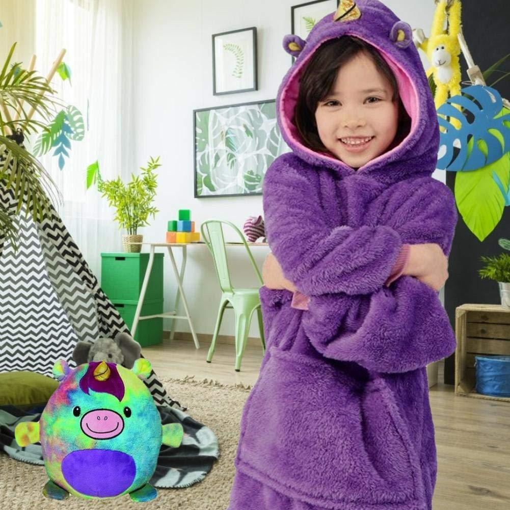 Sudadera combinada Mascota doblada Transformarse en una Sudadera con Capucha Pijamas Pijamas para ni/ñas Plegable Mascota Huggle Sudadera con Capucha Almohada Juguete de Peluche